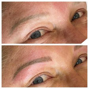 Image of Before and After of Eyebrow Tattoo