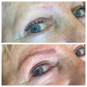 Before and After Eyebrow Tattoo and Eyeliner Tattoo
