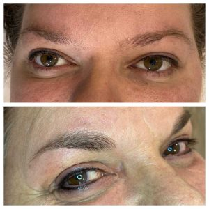 Before and After Permanent Eyeliner Tattoo