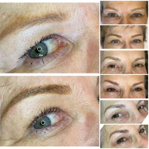 Samples of Eyebrow Microblading