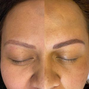 Eyebrow Tattoo Before and After Picture