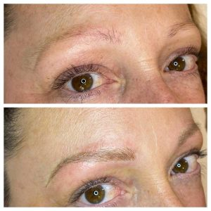 Image of Eyebrow Feathering Before and After