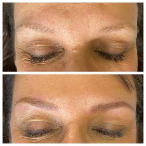 Image of Before and After Microblading Eyebrow