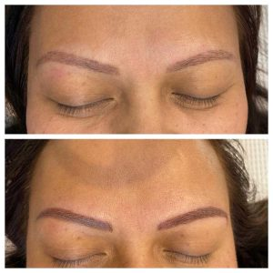 Eyebrow Tattoo Before and After Image