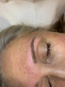 Sample Image of a Done Eyebrow Tattoo