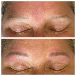 Microblading Eyebrows Before and After Image