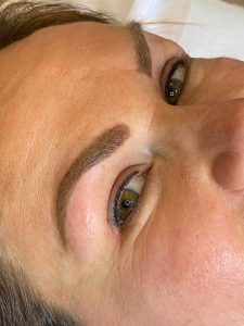 Done eyebrow tattooing and eyeliner tattoo