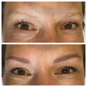 Image of Before and After Microblading Tattoo Eyebrows