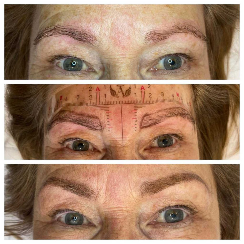 Procedure in Eyebrow Tattoo