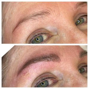Image of Before and After Permanent Eyebrow Tattoo