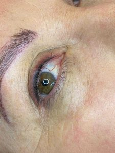 Photograph of Before and After Semi Permanent Eyeliner Tattoo