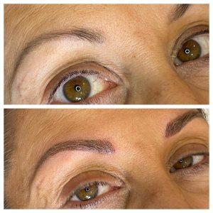 Image of Before and After Cosmetic Eyebrow Tattoo