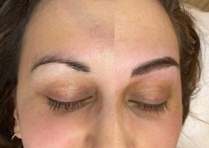 Eyebrow Feathering Before and After Image