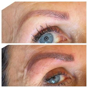 Before and After of Eyebrow Tattoo Session
