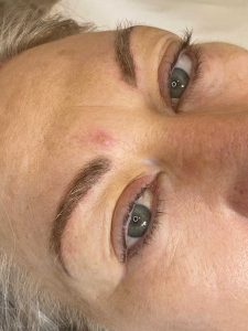 Image of a done Eyebrow Tattoo