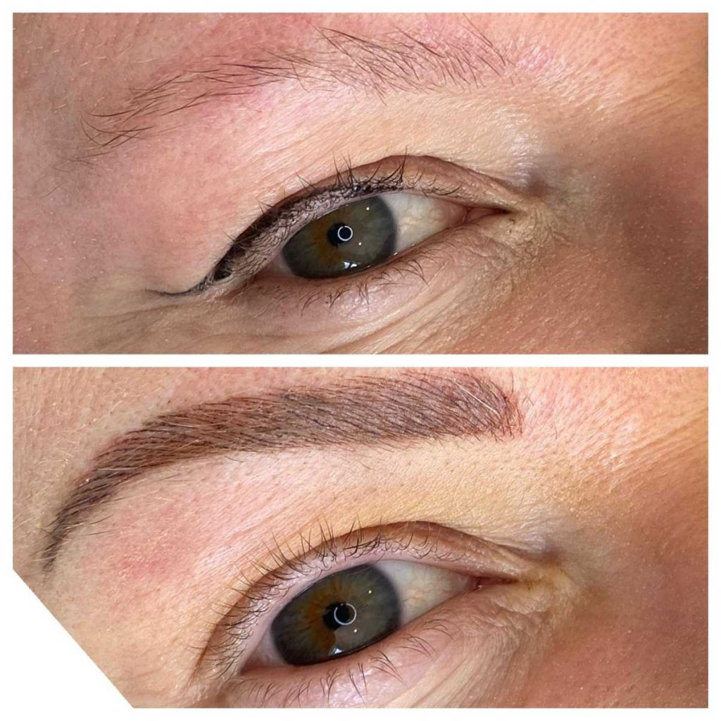 Photograph of Cosmetic Tattoo in Eyebrow and Eyeliner