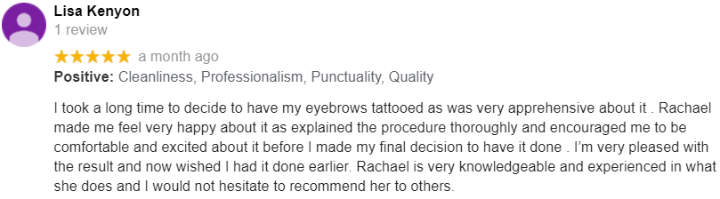 Cosmetic Tattoo Review