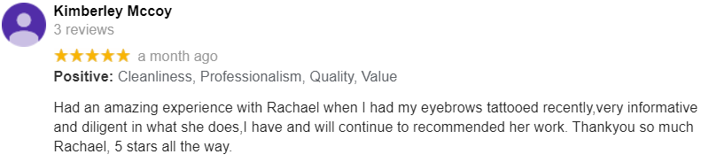 Eyebrow Tattoo Google Review